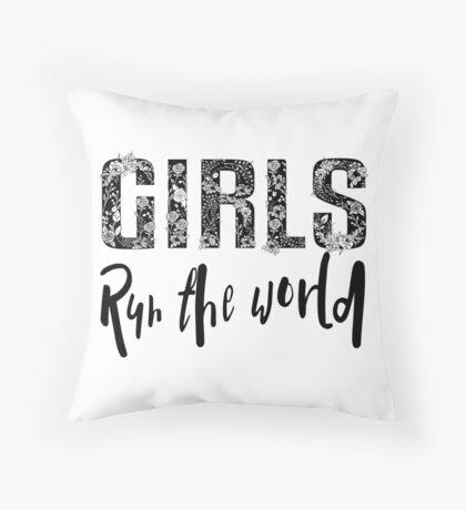 Girls Rule the World  Throw Pillow