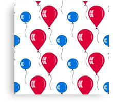 red and blue balloons Canvas Print