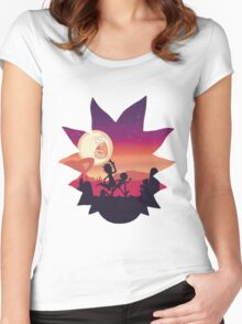 Rick & Morty Run Women's Fitted Scoop T-Shirt
