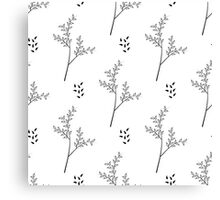 thin twigs with leaves Canvas Print