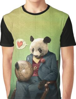 Wise Panda: Love Makes the World Go Around! Graphic T-Shirt