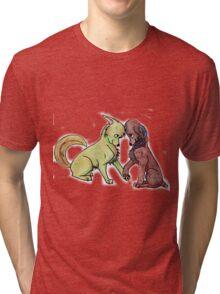 Katniss and Peeta Tri-blend T-Shirt