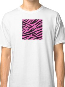 Animal background pattern - pink tiger skin texture. Background texture of pink tiger skin Classic T-Shirt