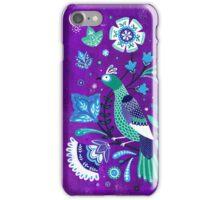 pretty peacock iPhone Case/Skin