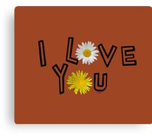 I love you on potter s clay Canvas Print