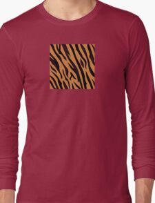 Animal background pattern - tiger skin texture. Background texture of tiger skin Long Sleeve T-Shirt