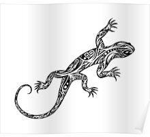 Tribal Lizard Poster