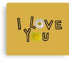 I love you on spicy mustard Canvas Print