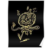 Pumpkin Chum Line Art Poster
