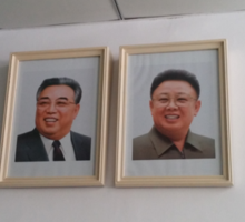 Portraits of the North Korean Leaders Sticker