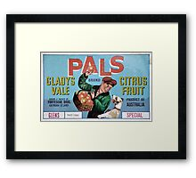 Glens Special PALS Fruit Label Framed Print
