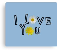 I love you in airy blue Canvas Print