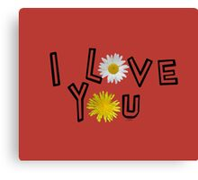 I love you on aurora red Canvas Print