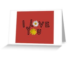 I love you on aurora red Greeting Card