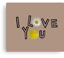 I love you in warm taupe Canvas Print