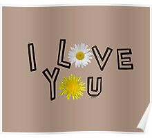 I love you in warm taupe Poster