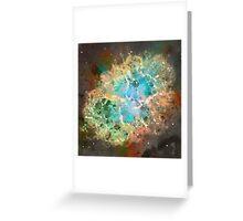 Crab Nebula - Watercolour Greeting Card