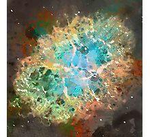 Crab Nebula - Watercolour Photographic Print