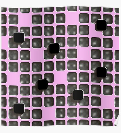 pink, black, gray Poster