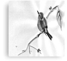 Sumi-E Wren Drawing Canvas Print