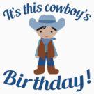 Little Cowboy Birthday Black Hair by Greenbaby