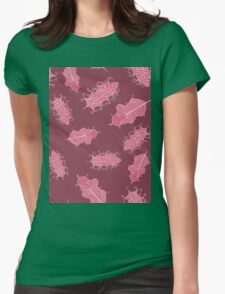 Pink Tribal Ethnic Seamless Pattern Womens Fitted T-Shirt