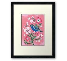 painted birdie Framed Print