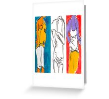 Model Standing Greeting Card