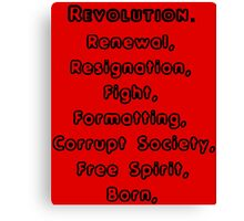 (R)evolution Canvas Print