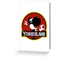 Yoshi's Jurrasic Island Greeting Card