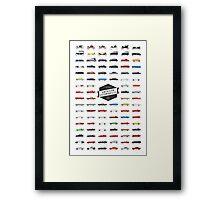 AMERICAN AUTOS Framed Print