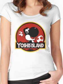 Yoshi's Jurrasic Island Women's Fitted Scoop T-Shirt