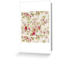 Vintage Art, Red and Pink Roses Greeting Card