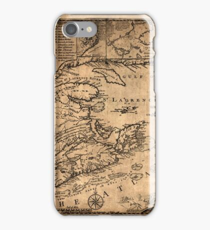 Map Of Nova Scotia 1776 iPhone Case/Skin