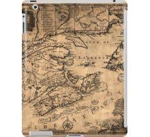 Map Of Nova Scotia 1776 iPad Case/Skin