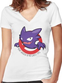 Ain't Afraid of No Ghost Type Women's Fitted V-Neck T-Shirt