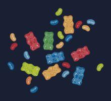 Jelly Beans & Gummy Bears Pattern Kids Tee