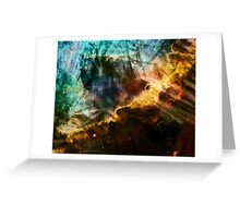 Omega/Swan Nebula - Charcoal & Colour Greeting Card