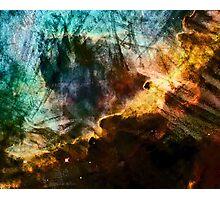 Omega/Swan Nebula - Charcoal & Colour Photographic Print