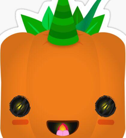 Excited Jack O' Lantern Pumpkin Sticker