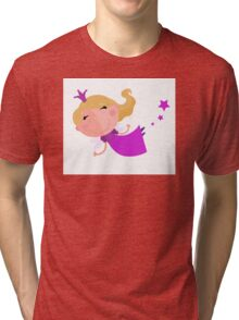 Cute Fairy Princess Character isolated on white background Tri-blend T-Shirt