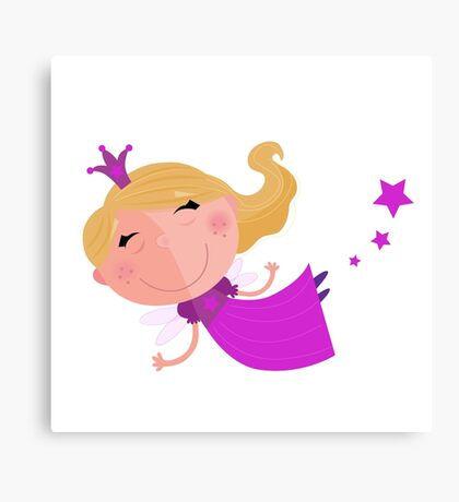 Cute Fairy Princess Character isolated on white background Canvas Print