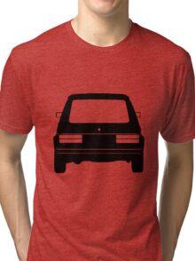 VW Golf MK1 Black Rear Tri-blend T-Shirt