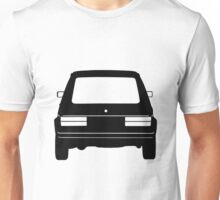 VW Golf MK1 Black Rear Unisex T-Shirt