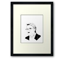Eddie Izzard, Superhero Framed Print