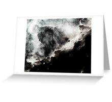 Omega/Swan Nebula - Charcoal Greeting Card