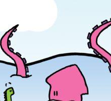 The Loch Ness Monster Meets the Kraken Sticker