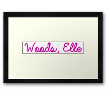 Woods, Elle Framed Print