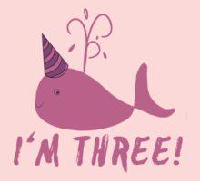 Pink Whale Birthday I'm Three! Baby Tee