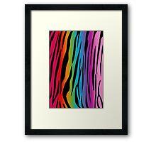 Bright Rainbow Tiger Framed Print